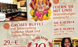 10 Jahre Restaurant Namaste Jubiläum
